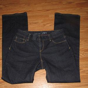 Ann Taylor LOFT Curvy Boot Medium Wash Jeans Sz 8